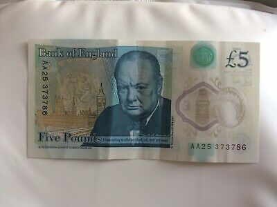 Collectable £5 Five Pound Note Holy Serial Number 786 • 150£