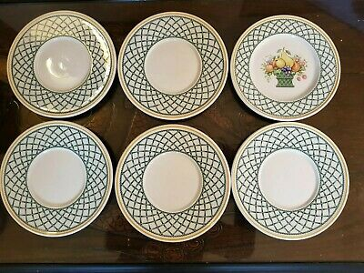 A Set Of Six Villeroy & Boch Basket Side Plates 16 Cm Very Good Condition  • 24£