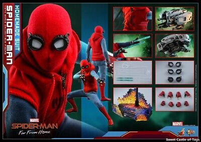 $ CDN314.65 • Buy 1/6 Hot Toys Marvel Spider-Man Far From Home Homemade Suit Action Figure MMS552