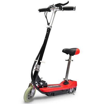 AU205.99 • Buy Electric Scooter With Seat 120 W Portable Children Kids Mobility Red And Black