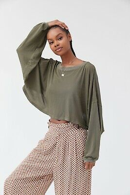 AU40 • Buy Urban Outfitters Long Sleeve Cropped Tee Size Small In Green