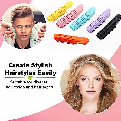 6Pcs Volumizing Fluffy Hair Clip Hair Root Curler Roller Wave Fluffy Hairstyling • 6.99£