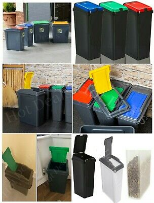 Plastic Recycle Recycling Bin Touch Top Bins Waste Storage & Pet Food Container  • 14.94£