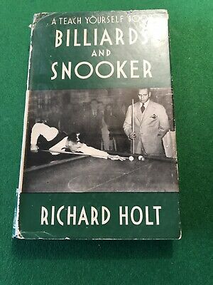 Vintage Book Teach Yourself Snooker And Billiards By Richard Holt.  • 25£
