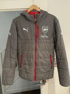 Arsenal Puma Jacket Reversible Grey/Red - Size S • 8.49£