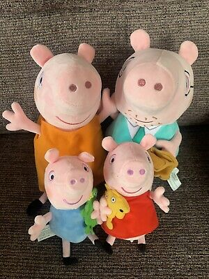 PEPPA PIG SOFT PLUSH TOY BUNDLE DADDY MUMMY GEORGE Official Genuine Family • 14.99£