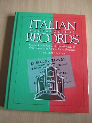 Italian Genealogical Records: How To Use... In Family History Research Hardback • 11.99£