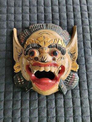 Oriental Wooden Mask Wall Hanging • 4.70£