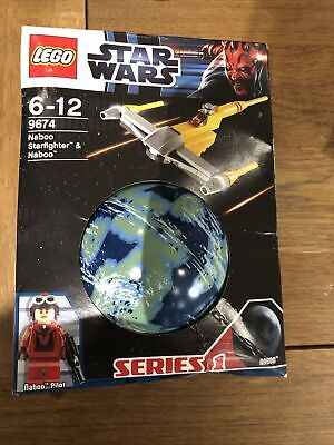 Lego 9674 Star Wars Naboo Starfighter - Planets - Series 1 - NEW • 6£