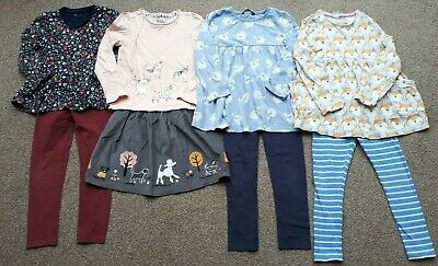 Girls Clothes Bundle, Tops & Leggings/Skirt, Age 5-6, Tu George & Boots Miniclub • 5.50£