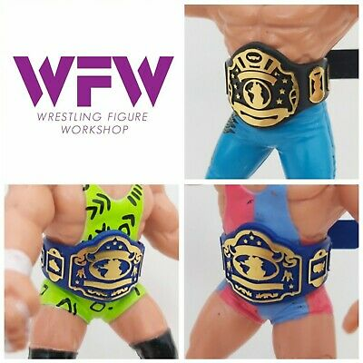 $ CDN36.27 • Buy Belts For WCW WWF Hasbro Galoob Mattel Retro Figures - 1xWorld 2x Blue Tag WFW