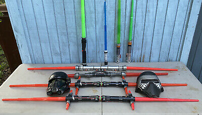Star Wars Light Saber Double Sided Darth Maul Sith Lord RED LFL Hasbro Lot • 224.80£