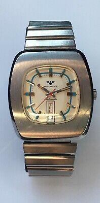 $ CDN400 • Buy Vintage Longines Wittnauer Watch Automatic 17 Jewels Blue Dial Swiss 38mm RARE