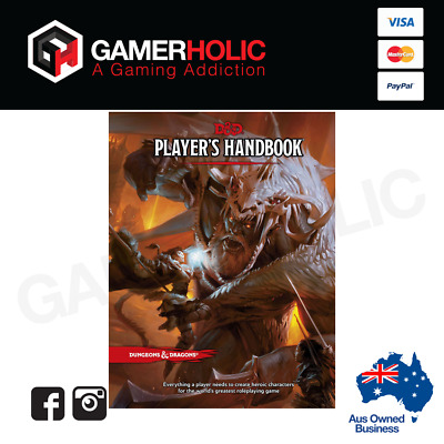 AU44.99 • Buy D&D Dungeons & Dragons Player's Handbook 5th Edition By Wizard RPG Team -DAMAGED