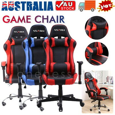 AU121 • Buy Executive Office Computer Gaming Chair Racer Recliner Chairs PU Leather Seat AU