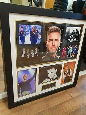 Genuine Authenticated Framed Signed Gary Barlow Take That Picture • 80£