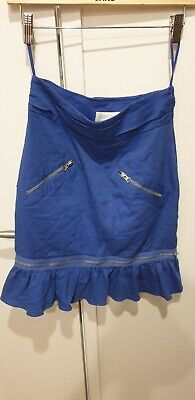 AU25 • Buy Alice Mccall Blue Skirt Size 8 Two Ways Wear With Pockets
