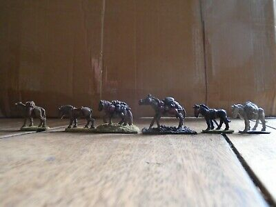 GRENADIER MODELS #192 Pack Animals X6 Metal Fantasy Miniatures PAINTED • 95£