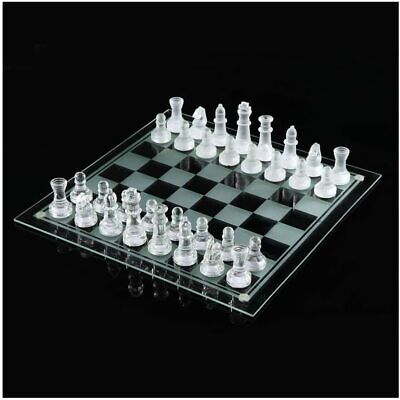 £13.99 • Buy Traditional Chess Set Glass Board Game Beautiful Unique Gift 32 Pieces Party Fun
