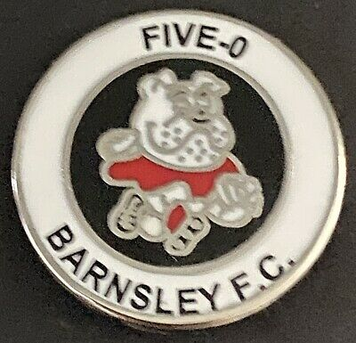 Barnsley FIVE-0 Hooligans Football  Enamel Badge *Free Postage • 3.99£