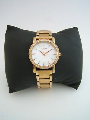 Dkny Women's Soho Watch Ny8121 Rose Gold Stainless Steel Crystals Genuine • 24.99£