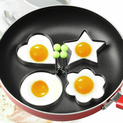Frying Pan Fried Egg Stainless Steel DIY Pancake Cooking Ring Mould Shaper Mold • 2.49£