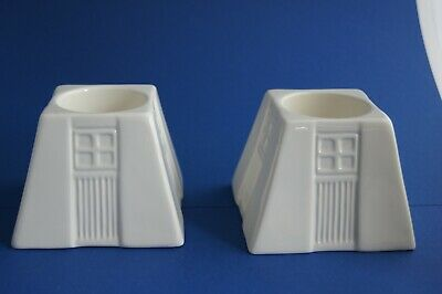 Two Belleek Living Cream Porcelain Candle Holders  • 14.99£