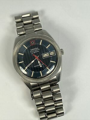 $ CDN1024.12 • Buy Vintage Omega Seamaster Chronometer Electronic F300Hz Blue Dial Watch Day/Date