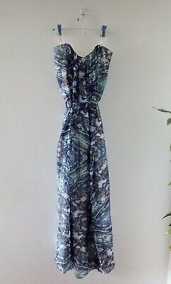 AU20 • Buy Forever New Strapless Silk Dress - Size 10