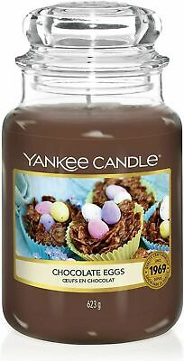 Yankee Candle Classic Large Jar Chocolate Eggs Scented 623g Burn Time Upto 150 H • 19.99£