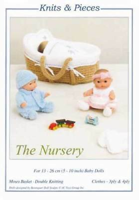 £2.95 • Buy The Nursery Small Dolls Clothes Moses Basket Toy Knitting Pattern Knits & Pieces