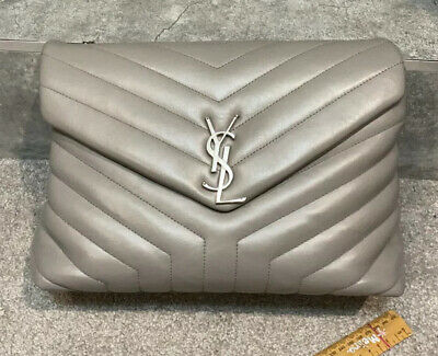 AU2275.85 • Buy YSL Grey Lou Padded Medium Bag RRP $3350