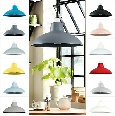 £10.99 • Buy Metal Pendant Light Shade Ceiling Lampshade Industrial Bedroom Kitchen Lamps