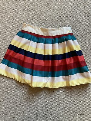 Girls M&S Autograph Blue Yellow Polka Dot Butterfly Embroided Skirt Age 2-3 Yrs • 2.50£