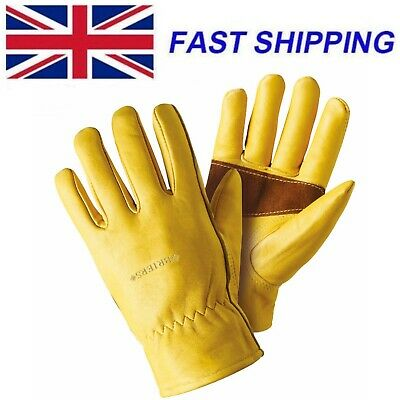 Briers Ladies Ultimate Golden Leather Gardening Gloves Professional Sizes M L • 11.99£