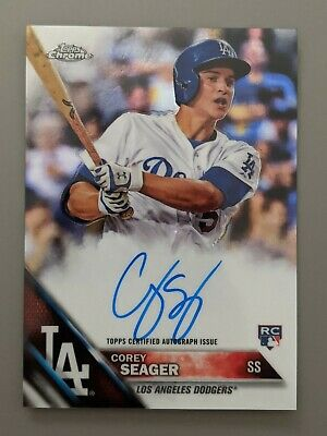 $ CDN50.22 • Buy 2016 Topps Chrome Corey Seager Rookie Auto Lot!! Tim Anderson, Snell, Comforto!!
