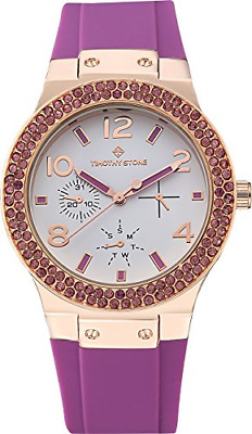 Timothy Stone FAÇON White Rose Gold/Purple Women's Design Watch 39mm • 89.31£
