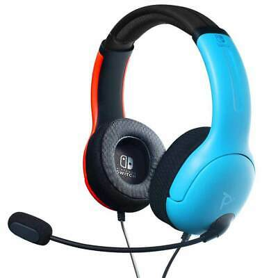 AU58.95 • Buy Nintendo Switch PDP Gaming LVL40 Wired Stereo Gaming Headset (Blue/Red) NEW & SE