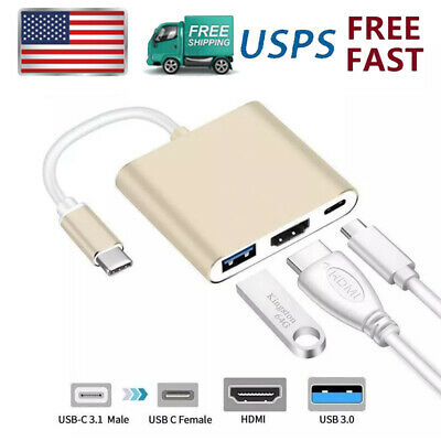 $12.87 • Buy USB Type C 3.0 To HDMI 1080P 4K HD TV USB PD Adapter Cable For Samsung MacBook