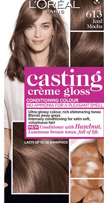 Loreal Casting Creme Gloss, Semi Permanent Brown Hair Dye, Iced Mocha (613) • 6£