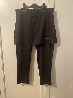 ELLESSE Black Sports/yoga/workout Leggings With Fitted Skirt UK 12 • 7.50£