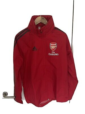 Arsenal Adidas RED Rain Jacket BNWT - M • 14.40£