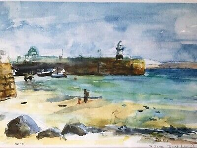 Framed Print Of Original Water Colour Painting Of St Ives. Cornwall   • 12£