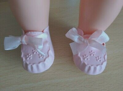 Tiny Tears Shoes Size 1M To Fit 16  Tiny Tears Doll ~ Pink Cinderella Shoes • 4.75£