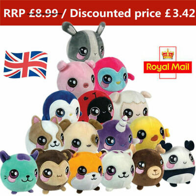 UK Squeeze Animal Plush Toy Kids Slow Rising Squeezamals Stress Reliever Gifts • 3.99£