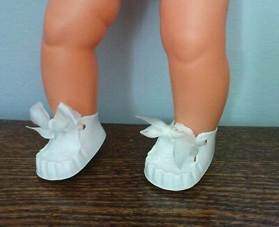 Teeny Tiny Tears Shoes For 12  Teeny & Baby Sasha Doll White Cinderella Shoes 0M • 2.65£