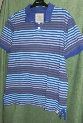 Marks & Spencer XL Striped Polo Shirt North Coast Logo On Top 44 - 46  Chest • 1.95£