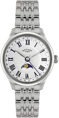 Rotary Mens Beaumont Moonphase Watch GB02849-01 • 121£
