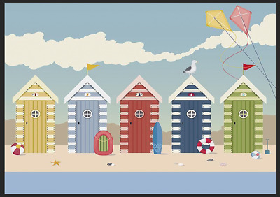 Beach Huts On The Seafront Metal Tin Sign Home Sun Plaque Decor Sand Wall Plaque • 5.99£