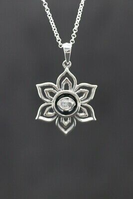 $ CDN60.06 • Buy Herkimer Diamond Lotus Flower Sterling Silver Pendant AAA Grade ~(578251)